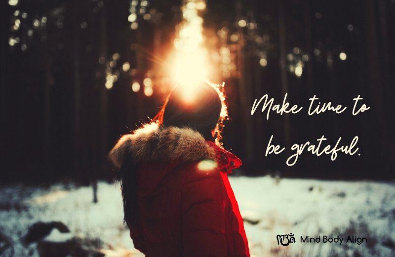 Open yourself to gratitude