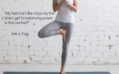 Foot Pain In yoga